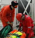 First Aid in the marine environment on an oil rig